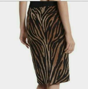 White House Black Market animal print pencil skirt